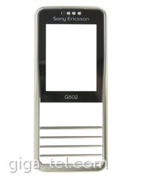 Sony Ericsson G502 front cover silver - logo