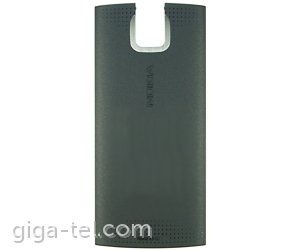 nokia x3 battery cover black 0254643. Black Bedroom Furniture Sets. Home Design Ideas