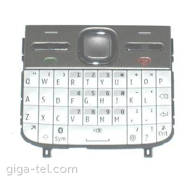 Nokia E5-00 keypad white - english