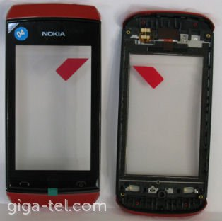 Nokia 305,306 front cover with touch red