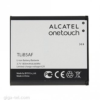 1800mAh - Alcatel One Touch 997D, OT-5035 X'Pop, Pop C5 5036D