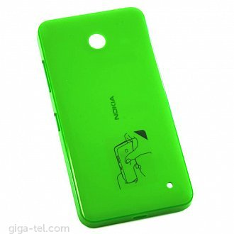 Nokia 630 battery cover green - glossy