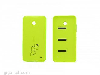 Nokia 630 battery cover yellow glossy