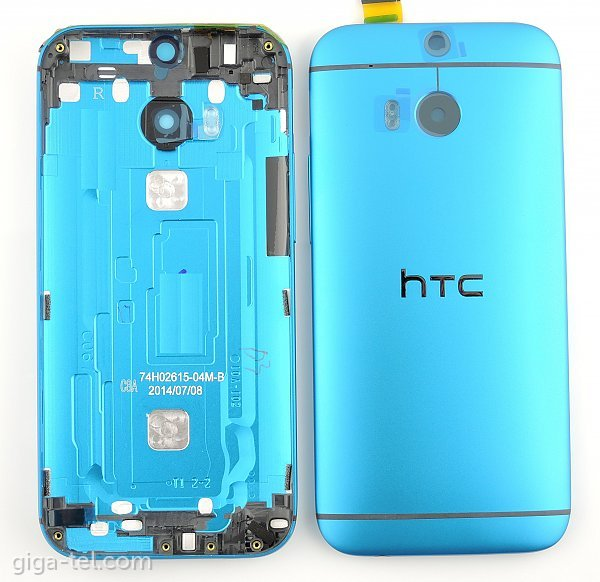 HTC One M8 battery cover blue