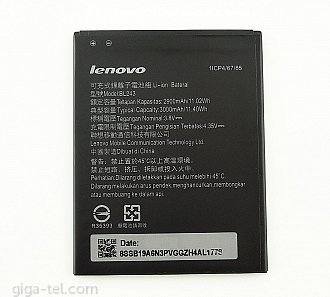 BL-243  2900/3000mAh Lenovo Lemon A7000, K3 Note K50,  Lenovo Golden Warrior S8 A7600