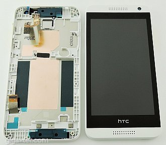HTC Desire 610 full LCD white with front cover