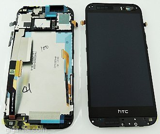 HTC M8 DUAL full LCD black with front cover