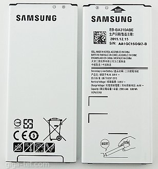 2300mAh Samsung A3 2016 ,  A310F battery