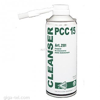 CLEANSER 15 PCC is the professional solution for cleaning printed circuit boards, and in particular the remains of soldering