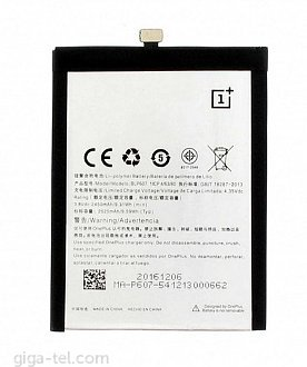 2525mAh  Oneplus One X (factory date 2018)