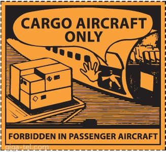 Adhesive label SET 2pcs - Safe Transport of Dangerous Goods by Air
