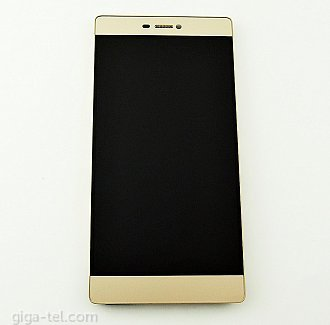 Huawei P8 full LCD gold with battery with loudspeaker and earpiece