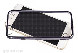 Silicon transparent case with grey frame