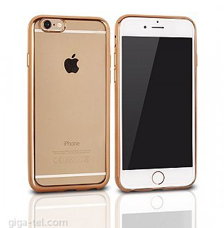 iPhone 6 TPU clear case gold