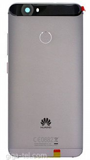 Huawei Nova battery cover grey with side flex and camera window - logo Huawei  version CE  + fingerprint flex