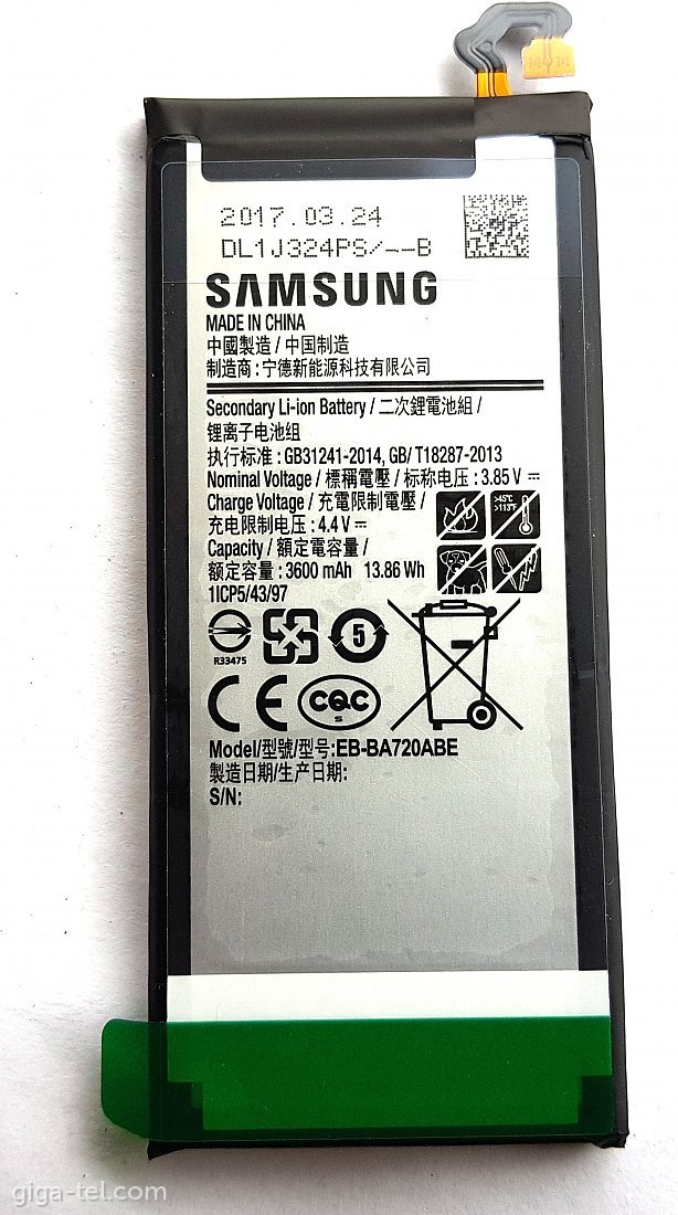 Samsung EB-BA720ABE battery