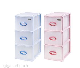 SET 3pcs drawers for cover and etc., complet size is L26.5xW18xH44cm, light used with good condition, mix color as picture - for shipment can add extra fees depend size...size/talness can be updated