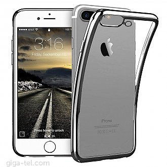 iPhone 7+ TPU clear case black