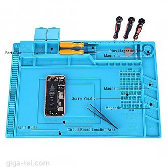 Magnetic insulation mat ideal for soldering electronics assembly or electronics and circuit board repair