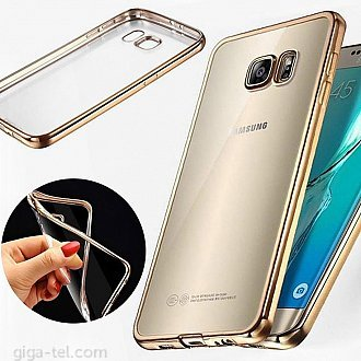 Samsung J500F TPU clear case gold