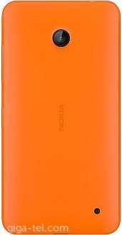 Nokia 630 battery cover orange MAT