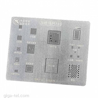 A10 3D IC Repair BGA Tin Plate Soldering Rework Stencil Steel Net for iPhone 7/7+