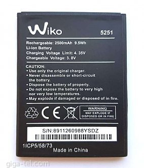 2500mAh / original cell / OEM label