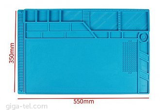 Magnetic Insulation Mat blue - big size 54x35cm !
