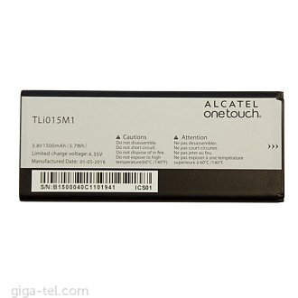 1500mAh - Alcatel One Touch Pixi 4