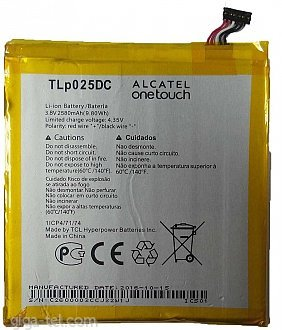 2580mAh - Alcatel One Touch 8050D Pixi 4 (6), One Touch 9001D Pixi 4