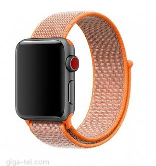 Apple watch 42mm Nylon strap orange