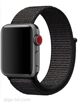 Apple watch 42mm Nylon strap black