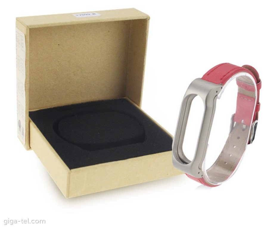 Xiaomi Mi Band 2 leather strap red