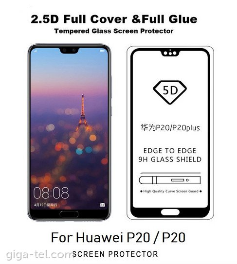 Huawei P20 - 5D tempered glass