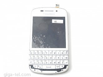 Blackberry Q10 full LCD with keypad white