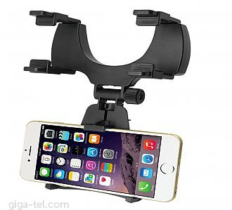 (Rearview clamp adjustable thickness: 1.5 - 4.5 cm) -  Suit for: 3.5-6 inch,5-9cm phones