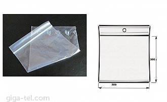 PolyZipBag 200x300mm - SET  100pcs