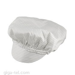 Antistatic cap white