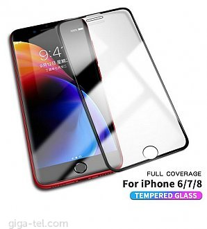 iPhone 6,6s,7,8 - 2.5D full screen tempered glass black