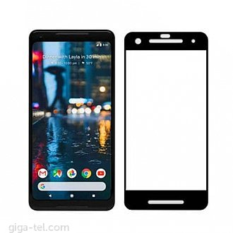 Google Pixel 2 - 2.5D tempered glass black