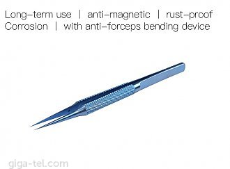 Professional Titanium alloy tweezers professional  - 14 cm / edge 0,15mm, weight 14g / picks up 0.02mm fly lines