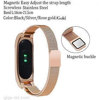 Xiaomi Mi Band 2 magnetic bracelet rose gold