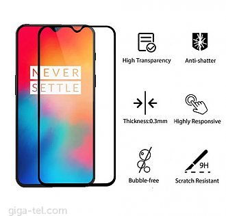Oneplus 6T 2.5D tempered glass black