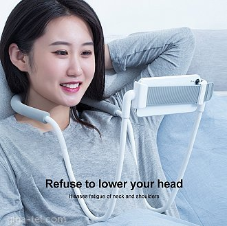 1. With flexible design, it can be hung on your neck and waist, and can be put on the desktop, it also supports selfie and has other functions