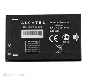 850mAh - Alcatel One Touch 802A, Alcatel One Touch 802Y, Alcatel One Touch 802, Alcatel One Touch 800A, Alcatel One Touch 800, Alcatel One Touch 808, Alcatel One Touch 808A, Alcatel VM800, Alcatel Tribe, Alcatel One Touch E207, Alcatel One Touch E206C, Alcatel One Touch 799A, Alcatel One Touch 799 Play, Alcatel OT-808, Alcatel OT-808A, Alcatel OT-800A, Alcatel OT-800, Alcatel OT-206, Alcatel OT-E206C, Alcatel OT-E207, Alcatel One Touch 799 Chrome, Alcatel One Touch 799 Carbon, Alcatel One Touch 206, Alcatel OT-E800, Alcatel Gyari