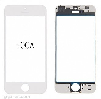 iPhone 5S,SE  glass+frame+OCA white