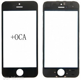 iPhone 5S,SE  glass+frame+OCA black