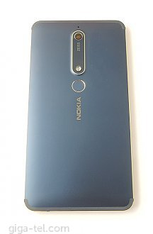 back cover with camera glass and fingerprint flex