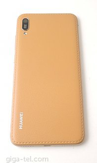 Huawei Y6 2019 battery cover brown leather
