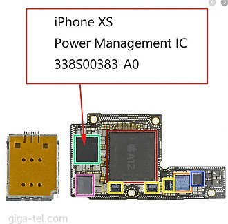 Phone XS u2700 power management chip